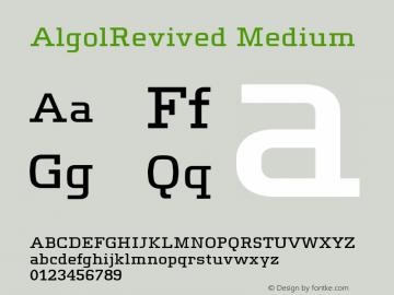 AlgolRevived Medium Version 001.000图片样张