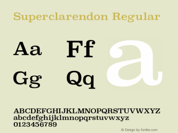 Superclarendon Regular 9.0d3e1图片样张