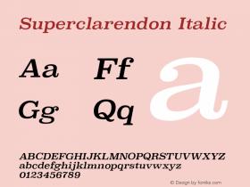 Superclarendon Italic 9.0d3e1图片样张