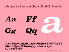 Superclarendon Bold Italic 9.0d3e1图片样张