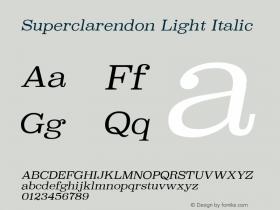Superclarendon Light Italic 9.0d3e1图片样张