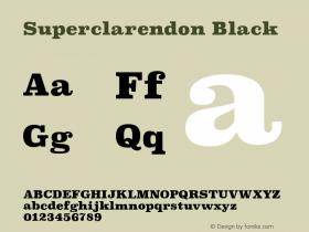 Superclarendon Black 9.0d3e1图片样张