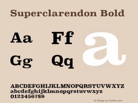 Superclarendon Bold 9.0d3e1图片样张