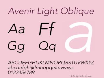 Avenir Light Oblique 8.0d5e3图片样张