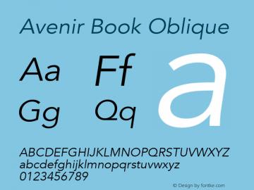 Avenir Book Oblique 8.0d5e3图片样张