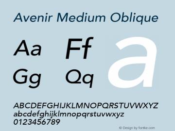 Avenir Medium Oblique 8.0d5e3图片样张