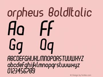 orpheus BoldItalic Macromedia Fontographer 4.1 12-12-01图片样张