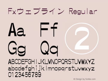 Fxウェブライン Regular Version 001.20 Font Sample