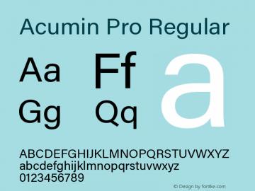 Acumin Pro Regular Version 1.011;PS 001.011;hotconv 1.0.88;makeotf.lib2.5.64775图片样张