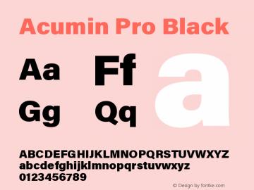 Acumin Pro Black Regular Version 1.011;PS 001.011;hotconv 1.0.88;makeotf.lib2.5.64775图片样张