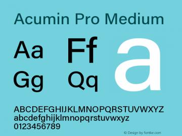 Acumin Pro Medium Regular Version 1.011;PS 001.011;hotconv 1.0.88;makeotf.lib2.5.64775图片样张