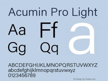 Acumin Pro Light Regular Version 1.011;PS 001.011;hotconv 1.0.88;makeotf.lib2.5.64775图片样张