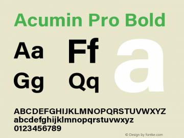 Acumin Pro Bold Version 1.011;PS 001.011;hotconv 1.0.88;makeotf.lib2.5.64775图片样张