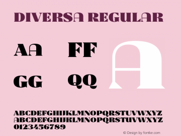 Diversa Version 1.001;PS 001.001;hotconv 1.0.70;makeotf.lib2.5.58329图片样张