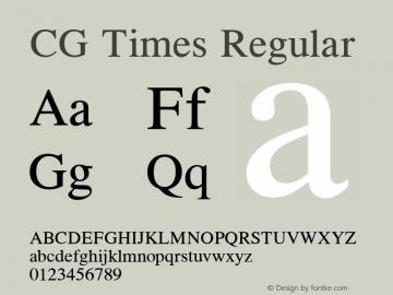 CG Times Version 1.01图片样张
