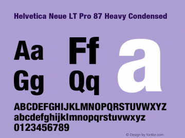 HelveticaNeueLTPro-HvCn Version 1.200;PS 001.002;hotconv 1.0.38图片样张