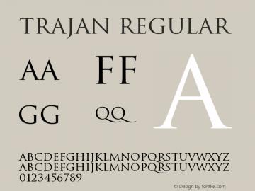 Trajan Regular Version 001.000图片样张