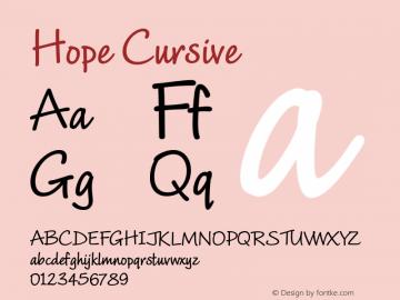 Hope-Cursive Version 1.000;PS 001.001;hotconv 1.0.56图片样张
