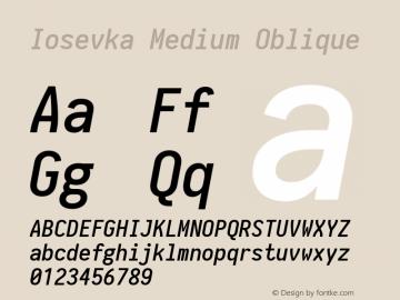 Iosevka Medium Oblique 1.13.2; ttfautohint (v1.6)图片样张