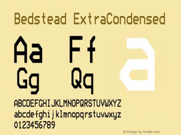 Bedstead Extra Condensed Version 001.003图片样张