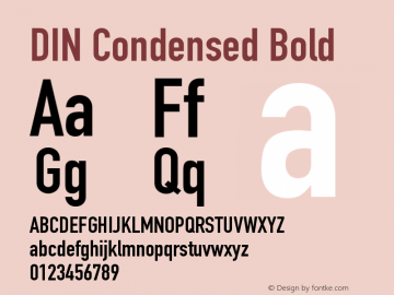 DIN Condensed Bold 9.0d1e1图片样张