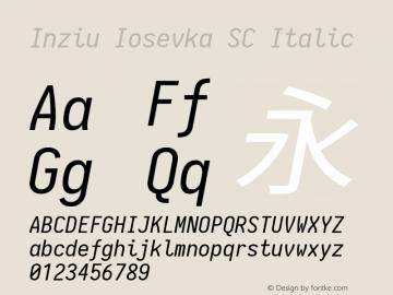 Inziu Iosevka SC Italic Version 1.13.2图片样张