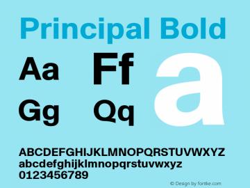 Principal Bold Version 1.000;PS 1.0;hotconv 1.0.88;makeotf.lib2.5.647800图片样张