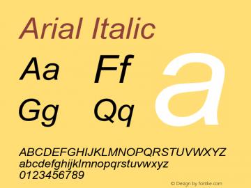 Arial Italic Version 3.05图片样张