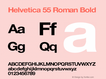 Helvetica 55 Roman Bold Version 1.0 Extracted by ASV http://www.buraks.com/asv图片样张