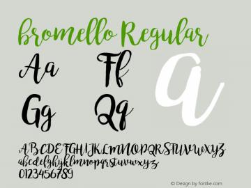 bromello Version 1.000 Font Sample
