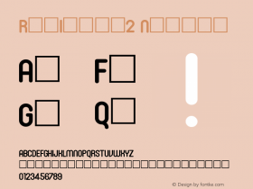 RonInset2 Normal 1.0 Mon Oct 18 19:09:52 1993 Font Sample