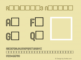 RonInset3 Normal 1.0 Mon Oct 18 19:11:37 1993 Font Sample