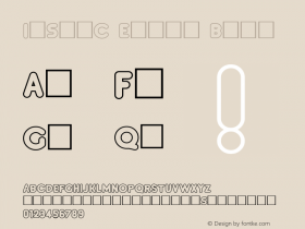InsetC Extra Bold 1.0 Fri Nov 19 14:01:25 1993 Font Sample