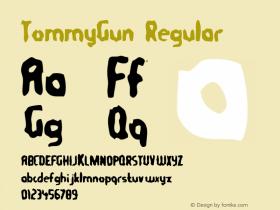 TommyGun Regular Macromedia Fontographer 4.1 10/1/97 Font Sample