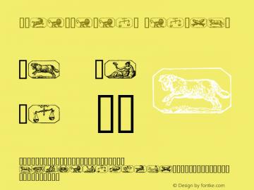 Stjernetegn Regular 1.0 - 01-10-97 Font Sample