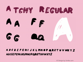 Atchy Regular Macromedia Fontographer 4.1 10/2/97 Font Sample