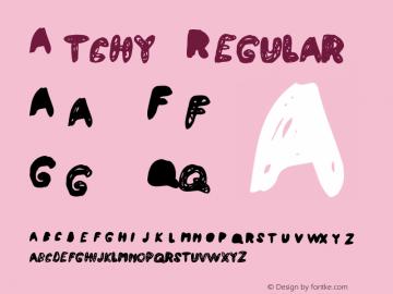 Atchy Regular Macromedia Fontographer 4.1 10/2/97 Font Sample