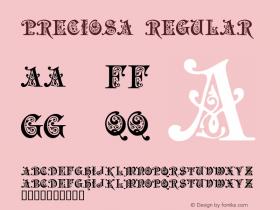 Preciosa Regular 1.00 - 01-10-98 Font Sample