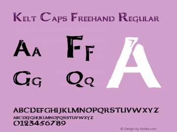 Kelt Caps Freehand Regular Basic 1.0 Font Sample