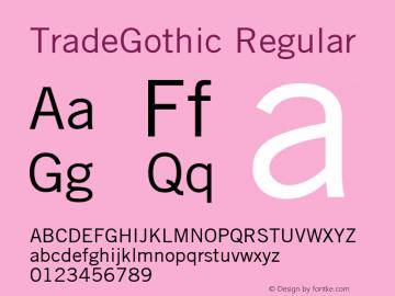 TradeGothic Macromedia Fontographer 4.1.5 2/12/05图片样张