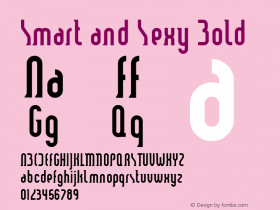 Smart and Sexy Bold Macromedia Fontographer 4.1 6/3/99 Font Sample