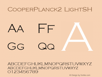 CooperPlanck2 LightSH SoHo 1.0 9/30/93 Font Sample