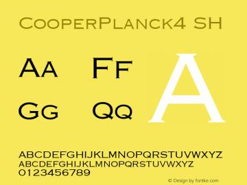 CooperPlanck4 SH SoHo 1.0 9/30/93 Font Sample