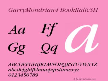 GarryMondrian4 BookItalicSH SoHo 1.0 9/30/93 Font Sample