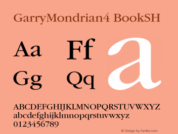 GarryMondrian4 BookSH SoHo 1.0 9/30/93 Font Sample