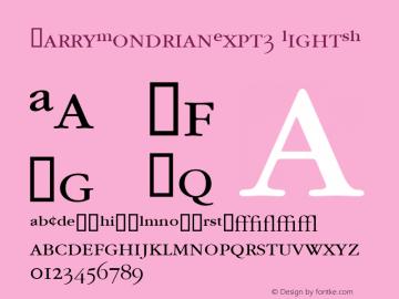 GarryMondrianExpt3 LightSH SoHo 1.0 9/30/93 Font Sample