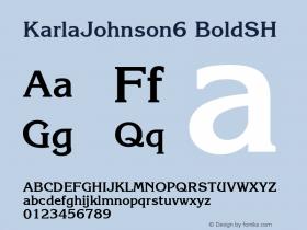 KarlaJohnson6 BoldSH SoHo 1.0 9/30/93 Font Sample