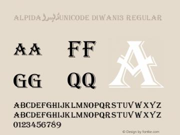 Alpida Unicode Diwani3 Version 4.00图片样张