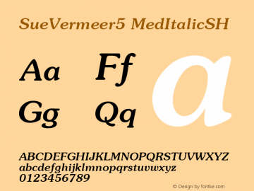 SueVermeer5 MedItalicSH SoHo 1.0 10/1/93 Font Sample
