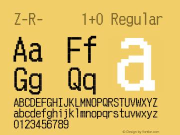 Z-R-阵数字字母1+0 Version 1.00 March 9, 2015, initial release图片样张